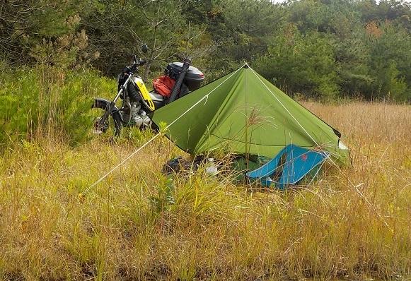 野池でデイキャンプ