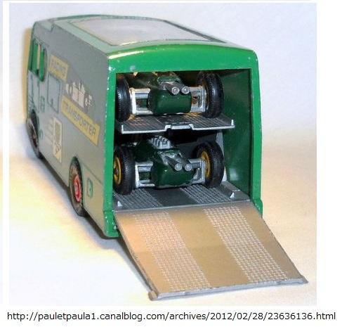 ロータスF1&BPトランスポーター ミニカー_5