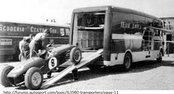 ロータスF1カーとトランスポーター
