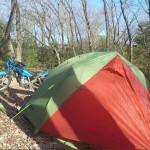 里山デイキャンプ ダンロップR226・R227ツーリングテント