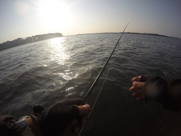 朝一番 釣り開始