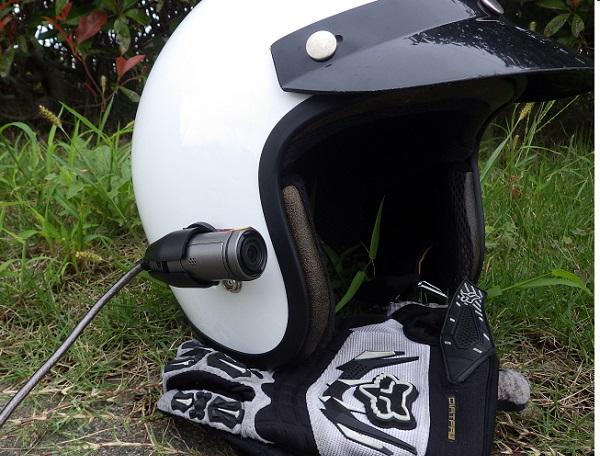 HX-A500をヘルメットに固定