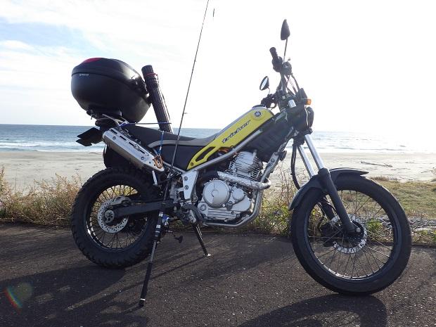 バイクで遠州灘サーフ釣行