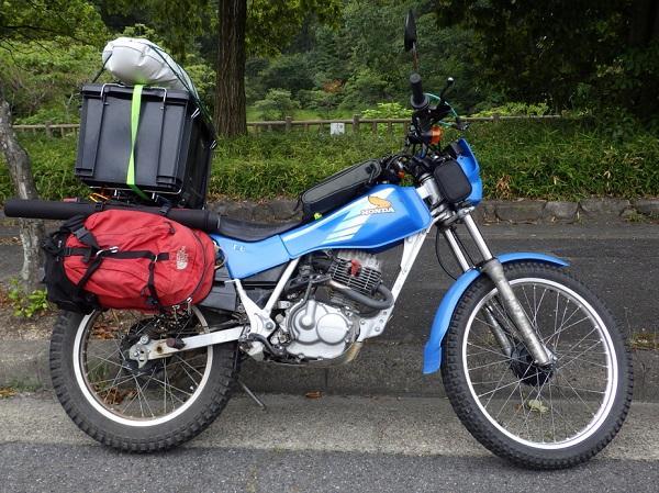バイクに釣り道具を積載