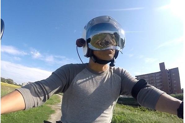 HX-A500 ヘルメットマウントでバイク車載動画