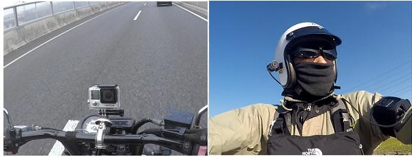 アクションカム バイク車載動画