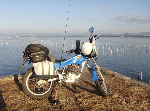 バイクで釣り tl125
