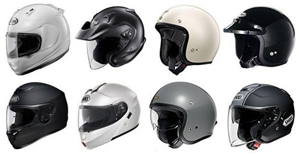 アライとショウエイのヘルメット一覧