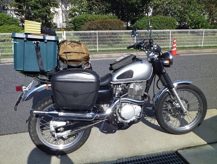 バイクのリアボックスを自作 固定方法を改良