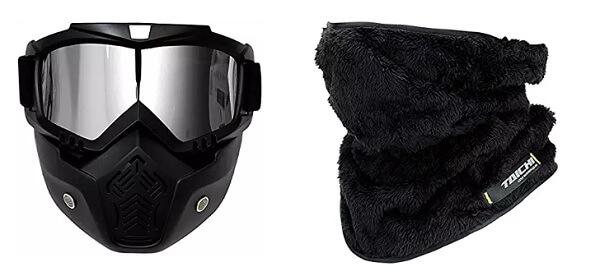 バイクの防寒対策にフェイスマスク