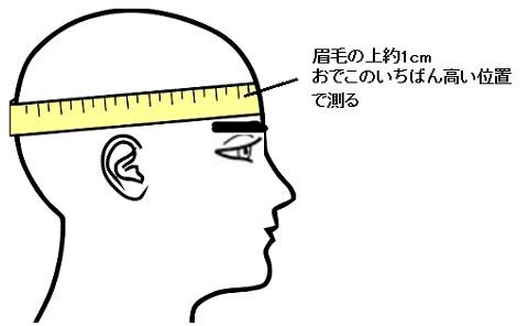 ヘルメット 頭のサイズの測り方