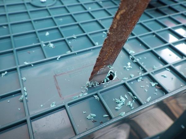 ホムセン箱の改造過程2