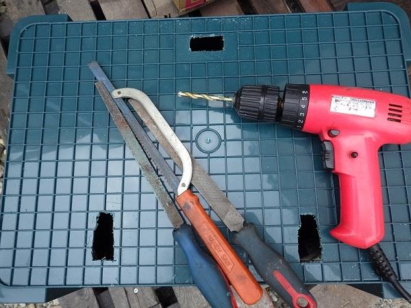 ホムセン箱の改造過程3