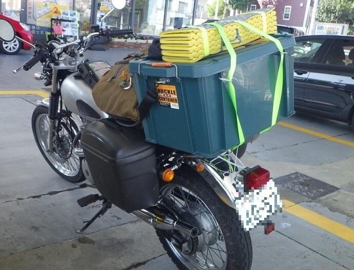 ホムセン箱を改造してバイクのリアボックスを自作