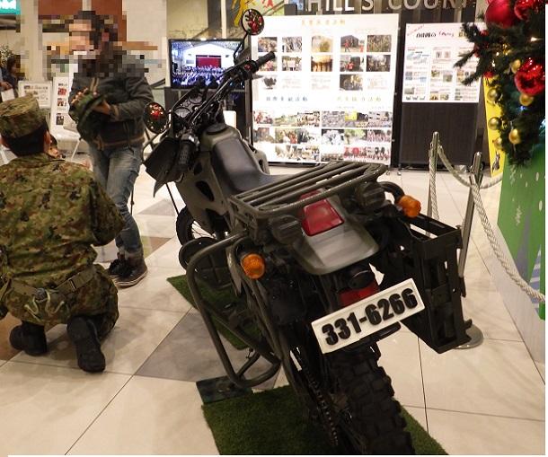 偵察用オートバイ 後方画像