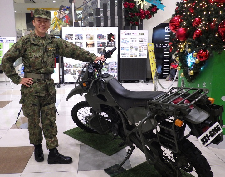 偵察用オートバイ KLX250