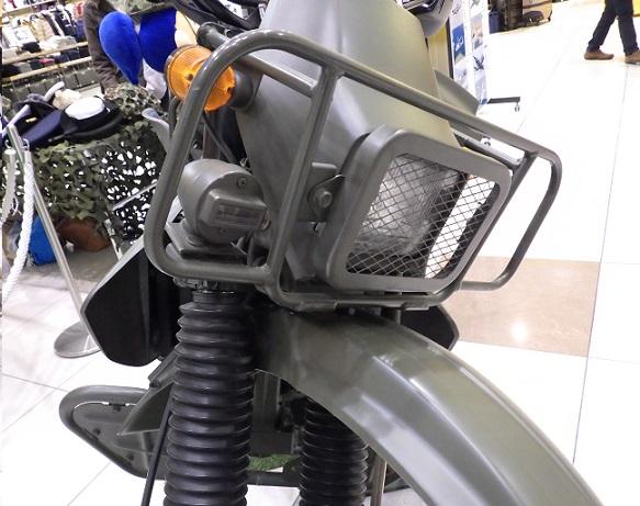 自衛隊偵察用オートバイ フロント周り