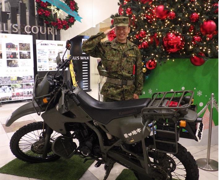 自衛隊の偵察用オートバイ KLX250詳細