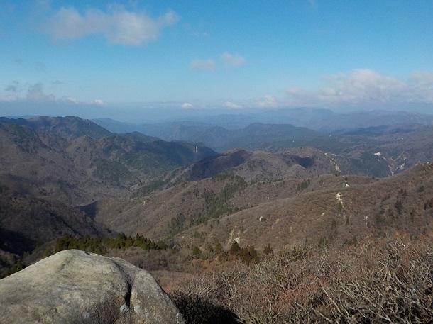 望湖台から見た琵琶湖方面の景色