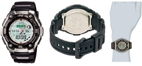 カシオの釣り用腕時計の詳細