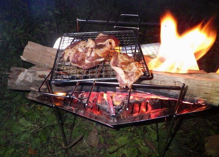 ピコグリルで焚き火バーベキュー
