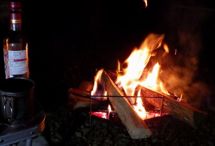 ピコグリルで焚き火