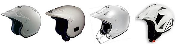 トライアル用ヘルメットの一覧