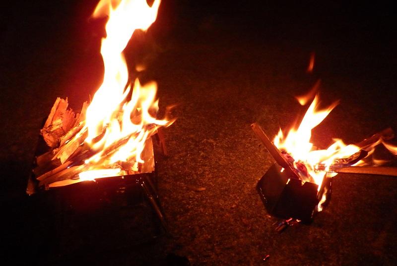 バーゴとロゴス 焚き火台 比較2