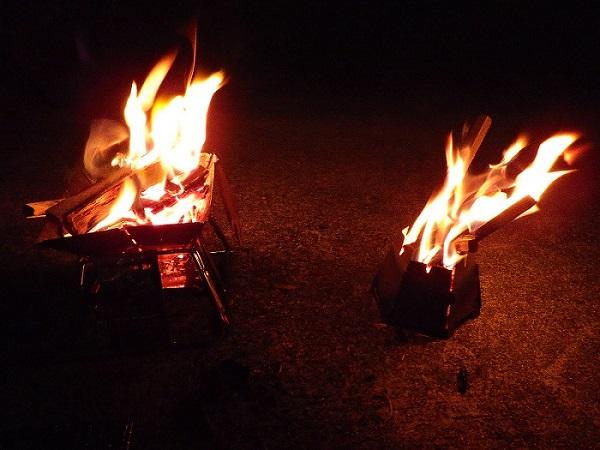 バーゴとロゴス焚き火で比較