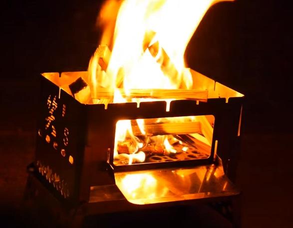 b6君で焚き火