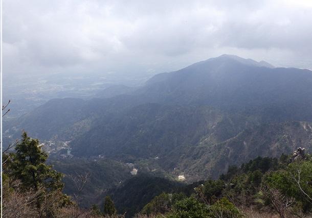 御在所岳 下山途中からの眺め