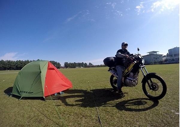 バイクでキャンプツーリング