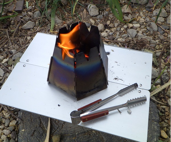 バーゴで焚き火