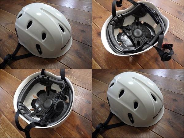 大人でも被れるモンベルの子供用登山ヘルメット