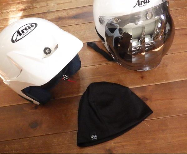 バイク用ヘルメットのインナーキャップ