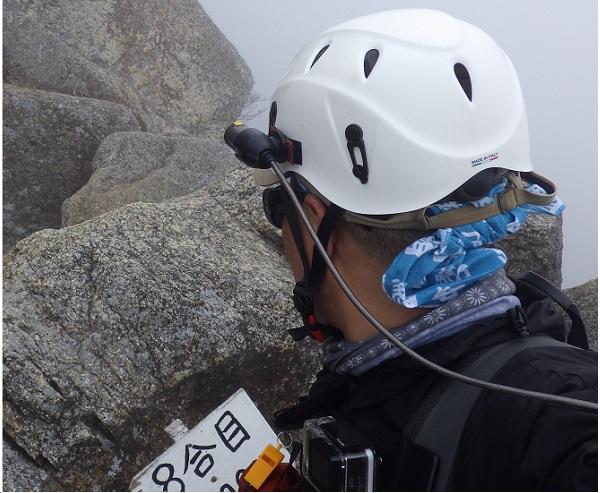 モンベルの子供用 登山ヘルメット