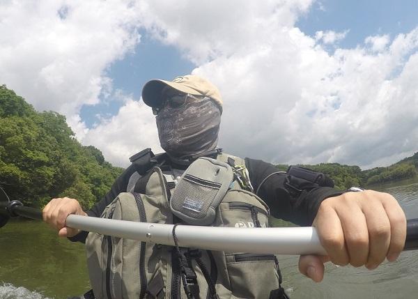 勘八峡 越戸ダムでカヤックフィッシング