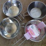 コスパ最高!100円でシェラカップを自作~湯せんカップ改造