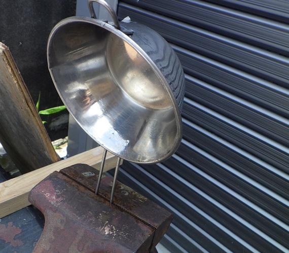 ダイソーの湯せんカップをシェラカップに改造2