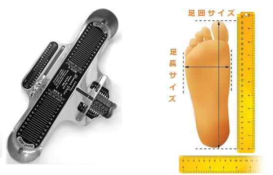 足のサイズを測る