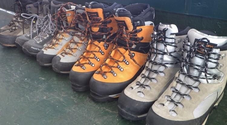 登山靴。トレッキングシューズの選び方 注意点