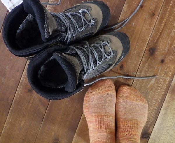 登山靴の試し履き