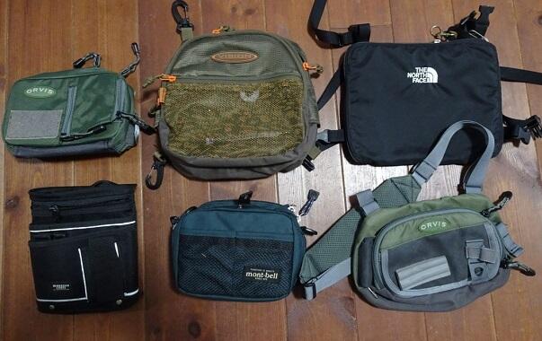 渓流釣り用のバッグ・ポーチ類