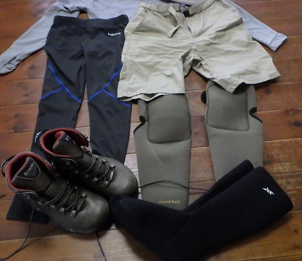 夏の渓流釣りの服装 ボトムス1