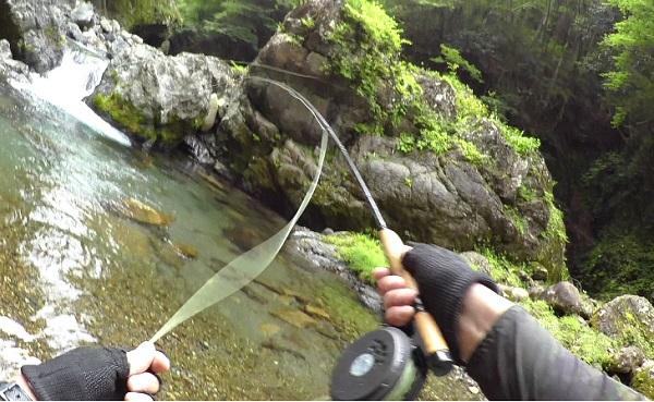 ウェットフライで釣り上がる