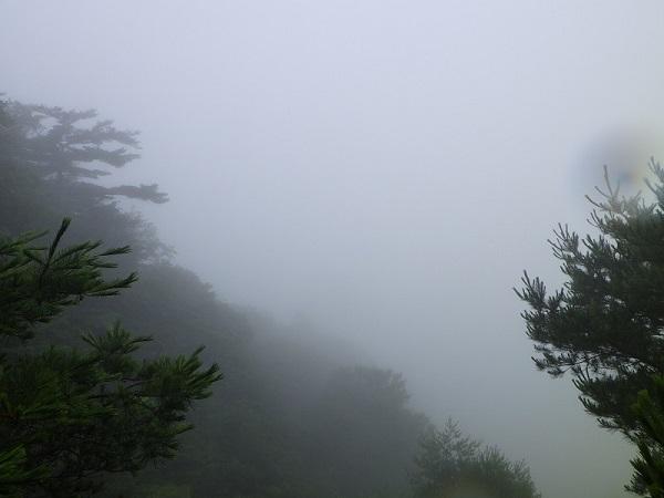 長石尾根登山道からの眺望