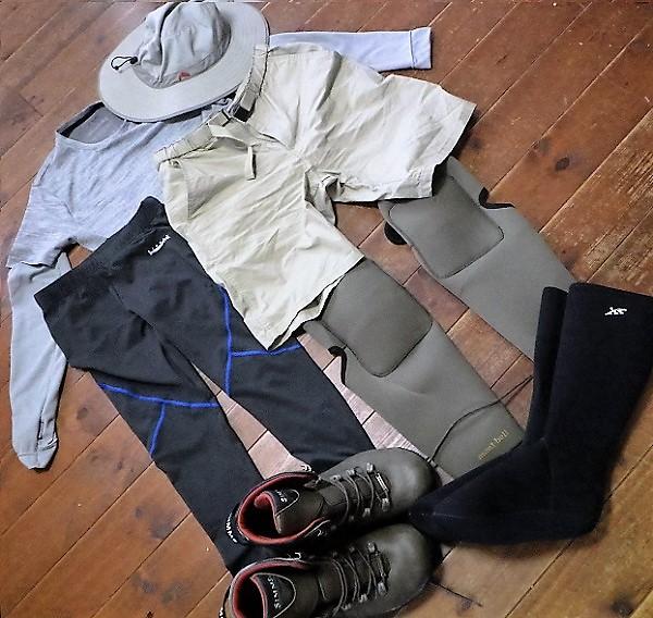 夏の渓流釣りの服装・スタイル~その1