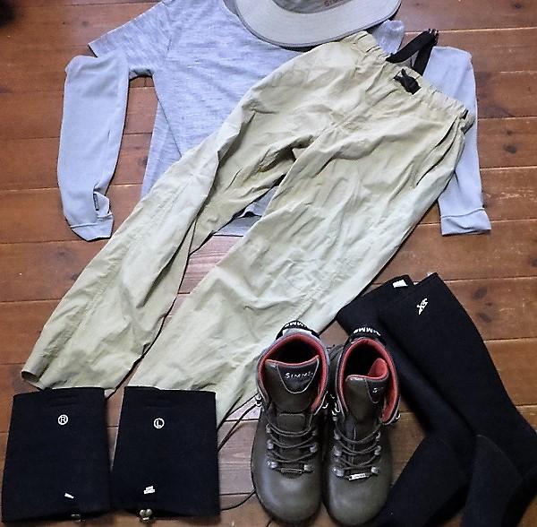 夏の渓流釣りの服装~その2