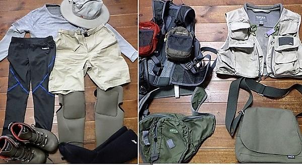 渓流釣りの服装・装備
