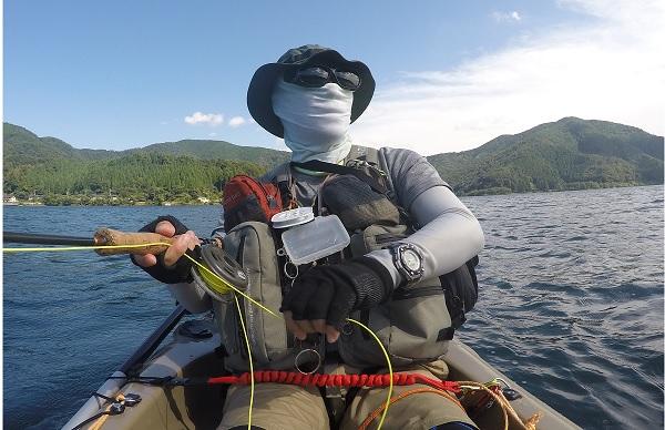 琵琶湖でカヤックフィッシング